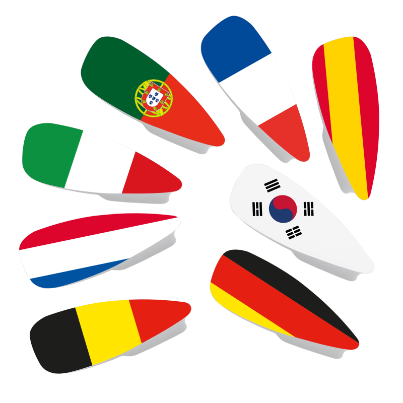 Magnetic covers with flag...
