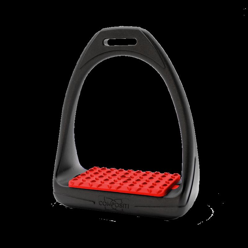Compositi étrier Reflex SOFT - Noir et rouge